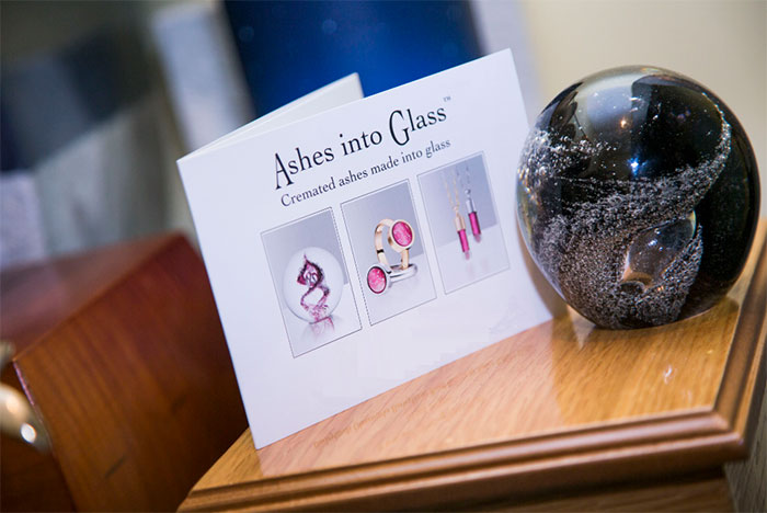 Ashes in to Glass